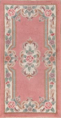Floral Indo Art Deco Oriental Area Rug 3x5