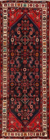 All-Over Hamedan Persian Area Runner Rug 3x10