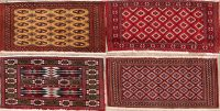 4 pieces Of Geometric Turkoman Persian Area Rug 2x3
