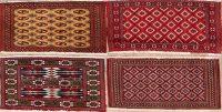 4 pieces Of Geometric Turkoman Persian Area Rug 2x3