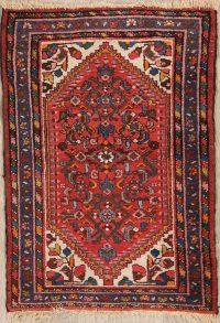 Geometric Hamedan Persian Area Rug 2x3