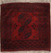 Geometric Balouch Afghan Oriental Rug 4x4
