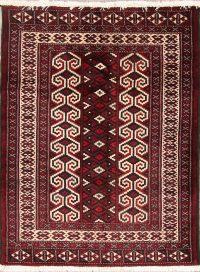 Geometric Turkoman Persian Rug 3x4