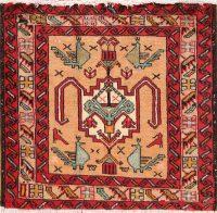 Geometric Nahavand Persian Square Rug 2x2