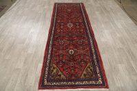 Geometric Hamedan Persian Runner Rug 4x10
