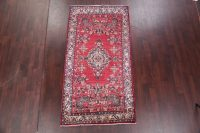 Red Floral Hamedan Persian Area Rug 4x8