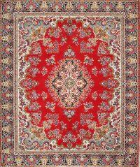 Red Floral Kerman Persian Area Rug 9x12