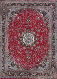 Soft Pile Floral Mashad Persian Style Area Rug 9x13