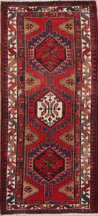 Geometric Meshkin Persian Runner Rug 3x7