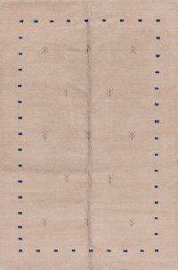 Contemporary Gabbeh Indian Oriental Area Rug 5x8