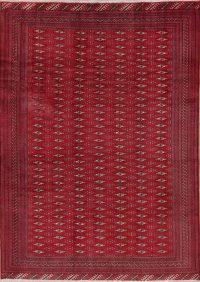 Geometric Turkoman Bokhara Persian Area Rug 7x9