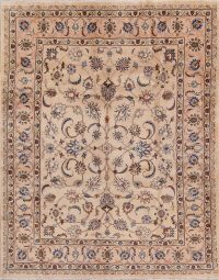 Floral Kashan Persian Area Rug 7x8