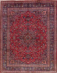Red Floral Trditional Kashmar Persian Area Rug 9x12