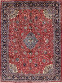 Red Floral Sarouk Persian Area Rug 10x14