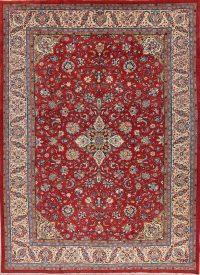 Red Floral Sarouk Persian Area Rug 9x13