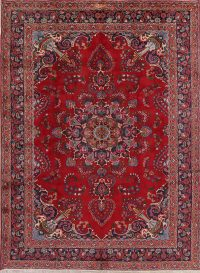 Floral Mashad Persian Red Area Rug 8x11