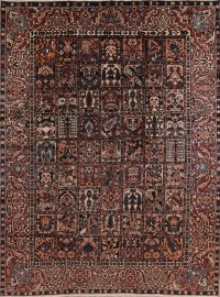 Geometric Bakhtiari Persian Area Rug 9x12