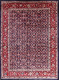 Navy Blue Floral Mahal Persian Area Rug 10x13