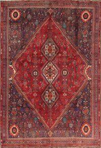Red Geometric Kashkoli Persian Area Rug 8x11