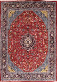 Red Floral Sarouk Persian Area Rug 10x13