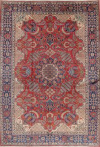 Red Floral Isfahan Persian Area Rug 9x12