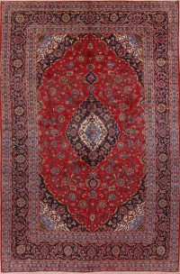 Traditional Floral Kashan Persian Area Rug 8x11