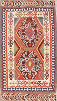 Geometric Kilim Shiraz Persian Area Rug 4x7
