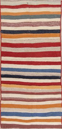 Striped Kilim Persian Area Runner Rug 4x8