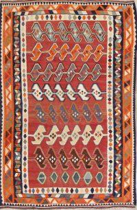 Geometric Tribal Kilim Persian Area Rug 6x9