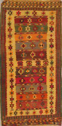 Geometric Kilim Shiraz Persian Runner Rug 4x8