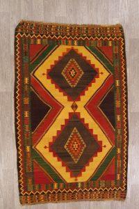 Geometric Kilim Shiraz Persian Area Rug 5X8