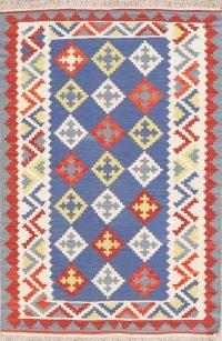 Geometric Kilim Shiraz Persian Wool Rug 3x5