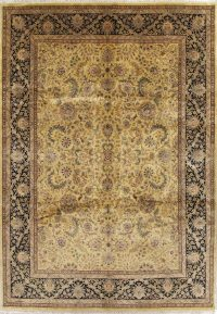 Gold Floral Agra Indian Oriental Area Rug 9x12