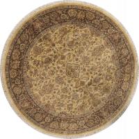 Floral Agra Indian Oriental Round Rug 8x8