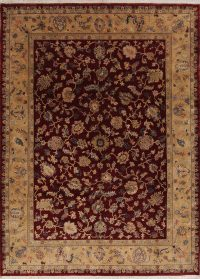Red Floral Oushak Oriental Area Rug 8x11
