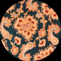 Paisley Floral Oushak Agra Oriental Area Rug 8x8