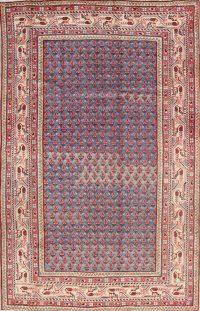 Blue Geometric Botemir Persian Area Rug 4x7