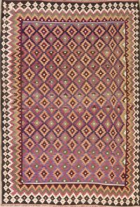 All-Over Geometric Kilim Oriental Area Rug 6x9