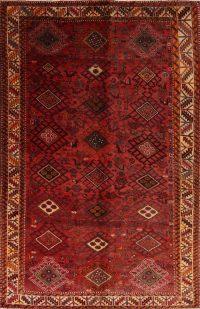 Red Geometric Bakhtiari Persian Area Rug 6x9