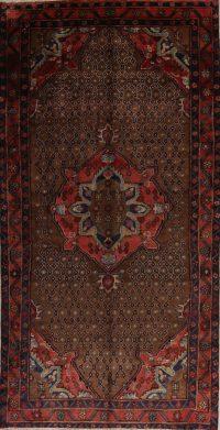 Brown Geometric Koliaei Persian Runner Rug 5x10