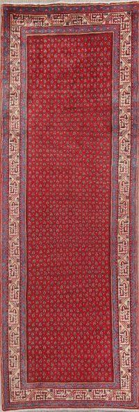 Red Geometric Botemir Persian Runner Rug 3x10
