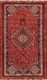 Red Geometric Abadeh Persian Area Rug 6x9