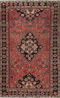 Red Floral Malayer Persian Area Rug 4x7