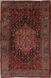 Red Geometric Bidjar Persian Area Rug 4x7