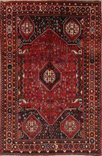 Red Geometric Kashkoli Persian Area Rug 6x10