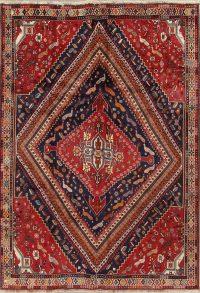 Red Geometric Kashkoli Persian Area Rug 7X10