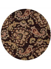 Hand-Tufted Paisley Round Oriental Area Rug 10x10
