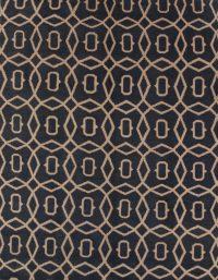 Charcoal Geometric Circled Moroccan Oriental Area Rug 5x8