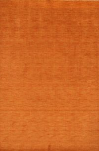 Orange Modern 7x10 Gabbeh Oriental Area Rug
