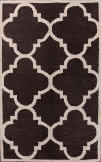 Hand-Tufted Trellis Oriental Modern Area Rug 5x8